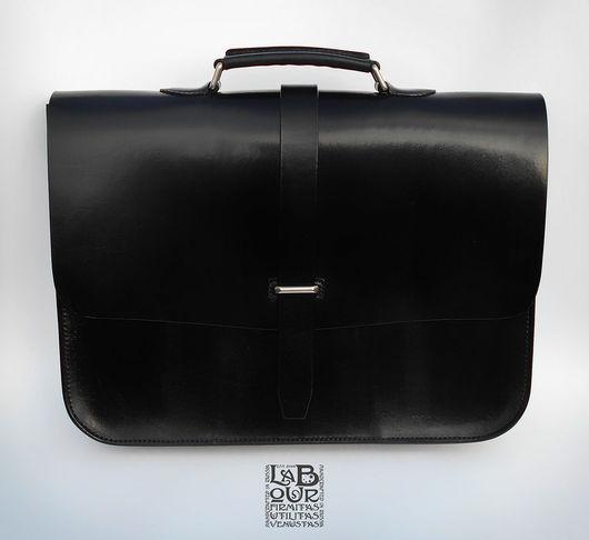 Мужские сумки ручной работы. Ярмарка Мастеров - ручная работа. Купить Портфель кожаный в деловом стиле мод.1.1. Handmade.