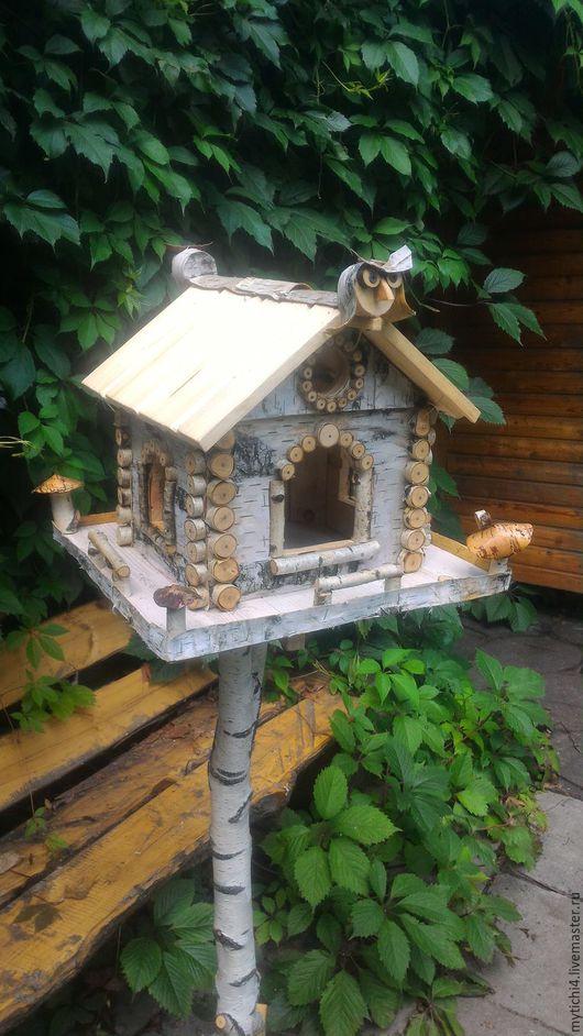 """Для других животных, ручной работы. Ярмарка Мастеров - ручная работа. Купить Кормушка """"Летний домик"""" на стойке. Handmade."""