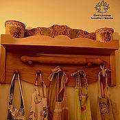 Для дома и интерьера handmade. Livemaster - original item Shelf in the kitchen of beech vine. Handmade.