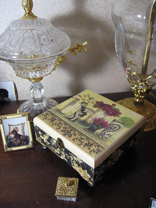"Шкатулки ручной работы. Ярмарка Мастеров - ручная работа. Купить Шкатулка чайная ""Изысканная"". Handmade. Шкатулка, шкатулка для чая"