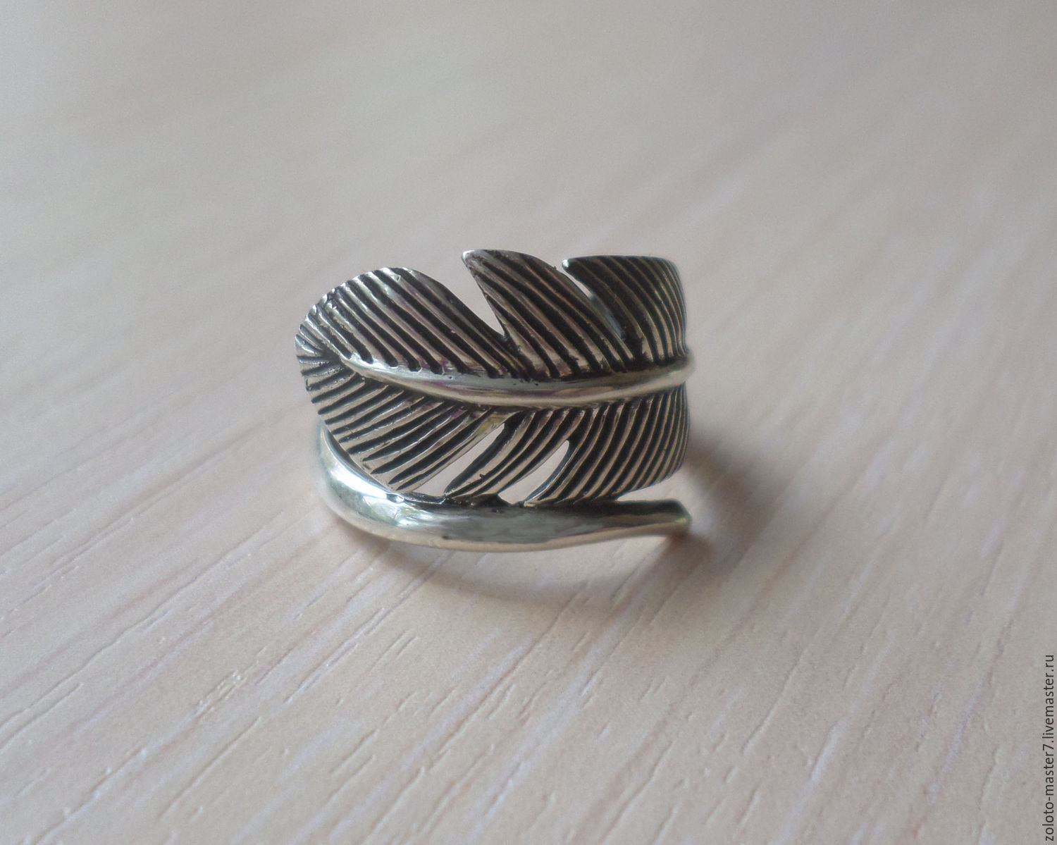 Ring silver 'Feather', Rings, Chaikovsky,  Фото №1