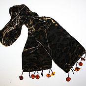 """Аксессуары ручной работы. Ярмарка Мастеров - ручная работа Шарф """"Леопард и янтарь"""". Handmade."""