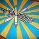 """Персональные подарки ручной работы. Ярмарка Мастеров - ручная работа. Купить лоскутное одеяло """"флаг ВВС ПВО"""" ( подарок мужчине ,парню  ). Handmade."""