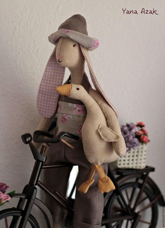 Куклы и игрушки ручной работы. Ярмарка Мастеров - ручная работа. Купить Лаура c гусем из серии куклы Maileg. Handmade.