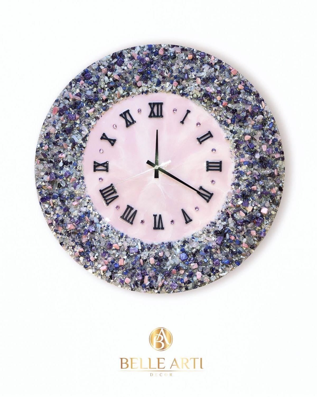 Часы настенные ручной работы из натуральных полудрагоценных камней, Часы классические, Москва,  Фото №1
