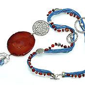 Украшения handmade. Livemaster - original item Long necklace on a cord