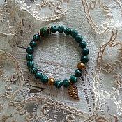 Украшения handmade. Livemaster - original item Bracelet from press. Malachite, bracelets in stock. Handmade.