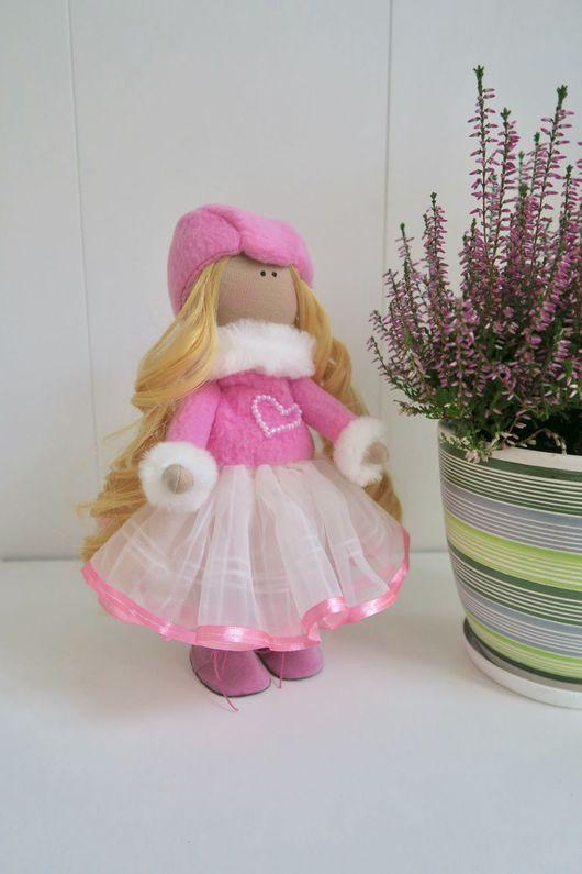 Коллекционные куклы ручной работы. Ярмарка Мастеров - ручная работа. Купить Текстильная кукла в розовом. Handmade. Текстильная кукла, подарок