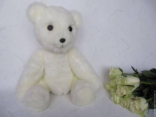 Мишки Тедди ручной работы. Ярмарка Мастеров - ручная работа. Купить Медвежонок Зефир. Handmade. Белый, мишутка, подарок, пермь