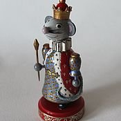 Мягкие игрушки ручной работы. Ярмарка Мастеров - ручная работа Мышиный король. 2 Мышка символ 2020 г. Handmade.