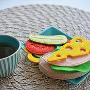 Кукольная еда ручной работы. Ярмарка Мастеров - ручная работа Еда из фетра. Бутерброд.. Handmade.