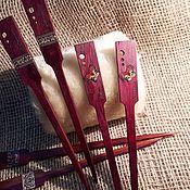 """Украшения ручной работы. Ярмарка Мастеров - ручная работа Две палочки """"Италия"""" для волос из дерева амарант, инкрустация мозаикой. Handmade."""