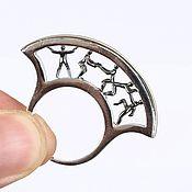 Винтаж handmade. Livemaster - original item Exclusive Movement ring, 925 silver, gilt, enamel. Handmade.