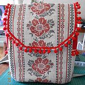 Рюкзаки ручной работы. Ярмарка Мастеров - ручная работа Рюкзак женский льняной. Handmade.