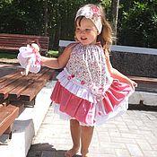 Работы для детей, ручной работы. Ярмарка Мастеров - ручная работа летний розовый сарафан для девочки. Handmade.