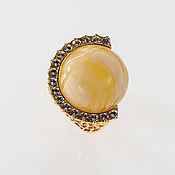 Украшения handmade. Livemaster - original item Ring with Baltic amber and Swarovski crystals. Handmade.