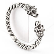 Украшения ручной работы. Ярмарка Мастеров - ручная работа Браслет на руку, мужской браслет из серебра, славянский символ. Handmade.