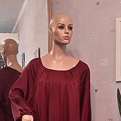 Платья ручной работы. Ярмарка Мастеров - ручная работа Нарядное платье бордового цвета. Handmade.
