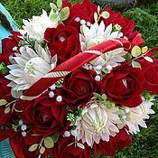 Букеты ручной работы. Ярмарка Мастеров - ручная работа Букет роз с хризантемами.. Handmade.