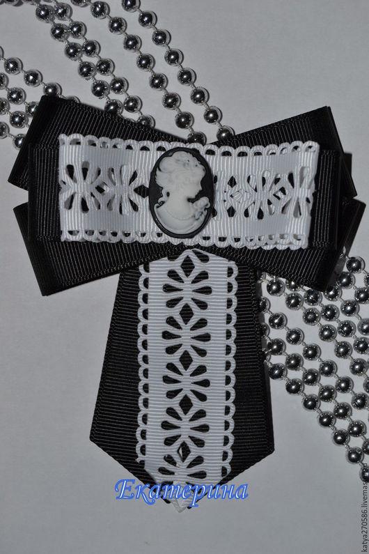Галстуки, бабочки ручной работы. Ярмарка Мастеров - ручная работа. Купить Бантики галстук-брошь. Handmade. Черный, крепление для броши