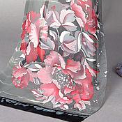 Аксессуары handmade. Livemaster - original item SILK scarf hand painted batik Poppys Mother`s Day Gift birthday. Handmade.