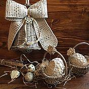 Подарки к праздникам ручной работы. Ярмарка Мастеров - ручная работа Пасхальный декор в эко стиле. Handmade.