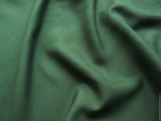 Шитье ручной работы. Ярмарка Мастеров - ручная работа. Купить Лён 100% рубашечно-плательный тёмно-зелёного цвета Италия.. Handmade.