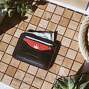 Сумки и аксессуары handmade. Livemaster - original item Wallet, and cardholders black leather MINNEAPOLIS. Handmade.