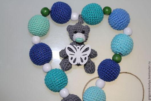 Слингобусы ручной работы. Ярмарка Мастеров - ручная работа. Купить Медведь. Handmade. Разноцветный, серый, бирюзовый цвет, бабочка