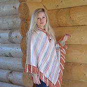 Одежда handmade. Livemaster - original item poncho of wool and alpaca