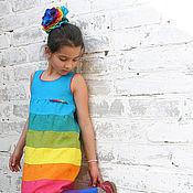 Работы для детей, ручной работы. Ярмарка Мастеров - ручная работа Платье-сарафан из льна. Handmade.