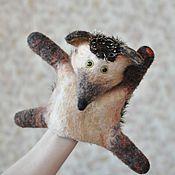 Куклы и игрушки ручной работы. Ярмарка Мастеров - ручная работа Игрушка на руку ёж. Handmade.