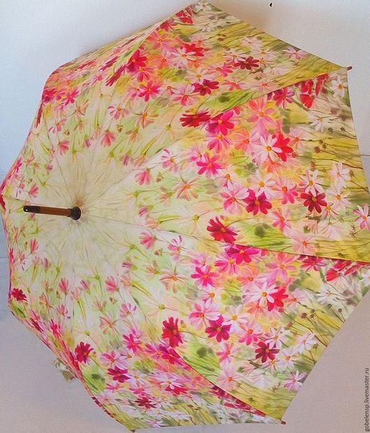 Зонты ручной работы. Ярмарка Мастеров - ручная работа. Купить КОСМЕЯ авторский зонтик. Handmade. Розовый, салатовый, яркий аксессуар