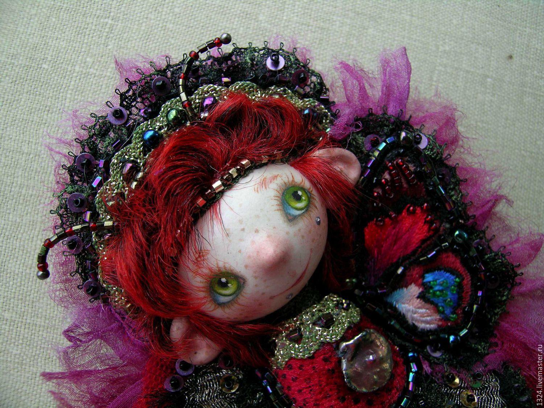 Кукла-брошь Волшебная кукла-бабочка фея эльф, Брошь-булавка, Хотьково,  Фото №1