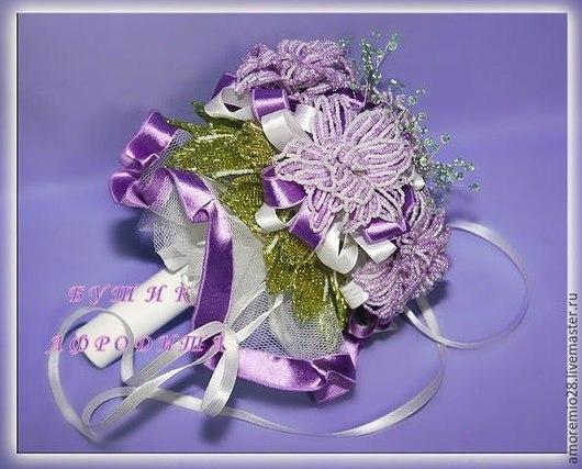 Свадебные цветы ручной работы. Ярмарка Мастеров - ручная работа. Купить Свадебный букет из бисера. Handmade. Свадебный букет из бисера