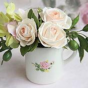 """Цветы и флористика ручной работы. Ярмарка Мастеров - ручная работа Композиция """"Цветочная чашка"""" из фоамирана. Handmade."""