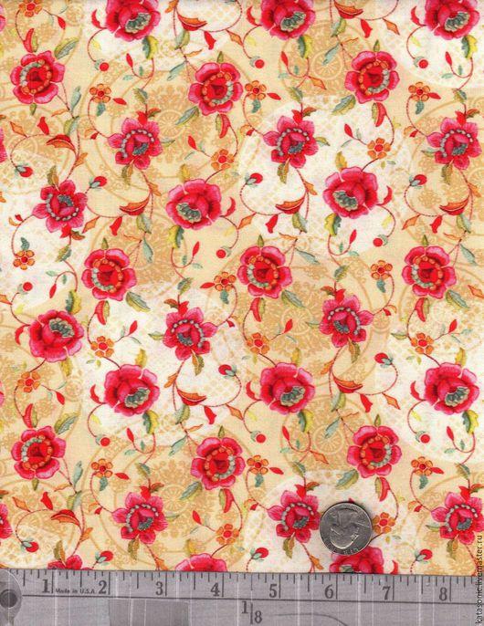 Шитье ручной работы. Ярмарка Мастеров - ручная работа. Купить 1126 Два вида. Американская ткань. Handmade. Бежевый