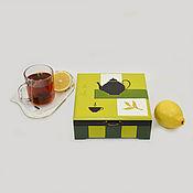 Для дома и интерьера ручной работы. Ярмарка Мастеров - ручная работа Шкатулка - коробка для чая  с магнитом. Handmade.