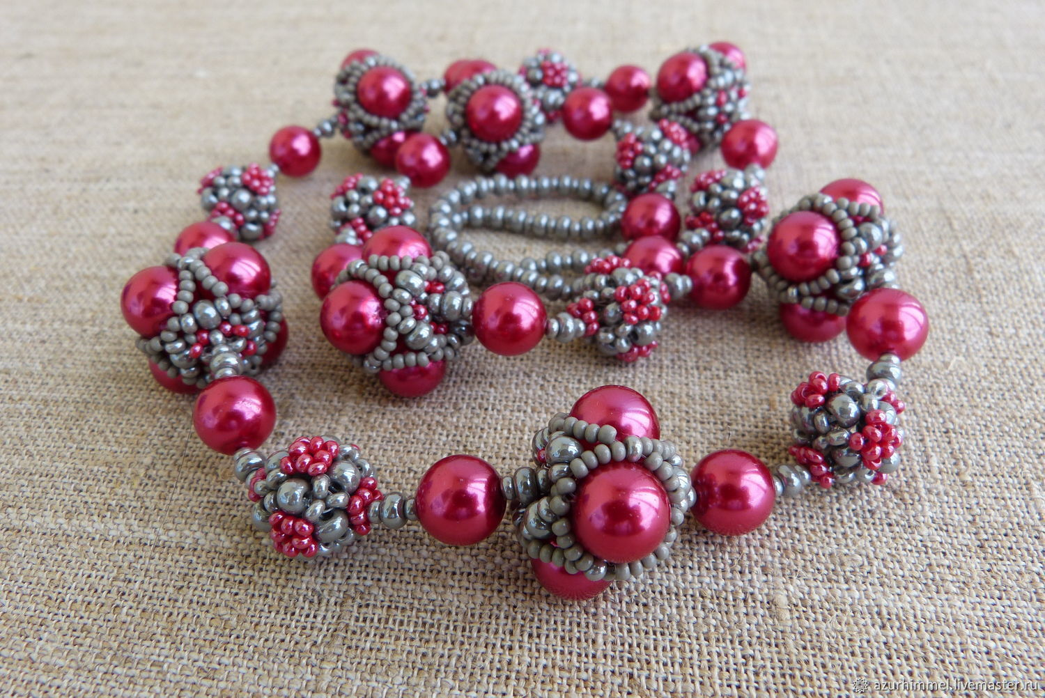 Beads and beads 'Cranberry ripe», Necklace, Saratov,  Фото №1