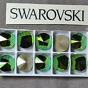 Материалы для творчества handmade. Livemaster - original item 1 PCs 12mm Rivoli 001SCGR Swarovski Rivoli Swarovski. Handmade.