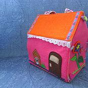 Куклы и игрушки ручной работы. Ярмарка Мастеров - ручная работа Домик для кукол из фетра. Handmade.