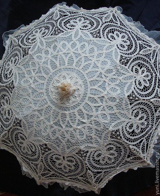 Одежда и аксессуары ручной работы. Ярмарка Мастеров - ручная работа. Купить Кружевной Зонт - Вечная любовь №2 (цвет слоновая кость). Handmade.