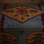 Для дома и интерьера handmade. Livemaster - original item Chest vintage wooden large painted.. Handmade.