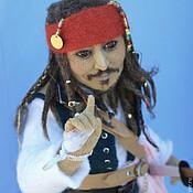 Куклы и игрушки ручной работы. Ярмарка Мастеров - ручная работа Капитан Джек Воробей. Handmade.