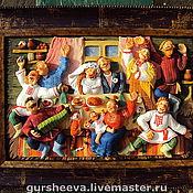 """Картины и панно ручной работы. Ярмарка Мастеров - ручная работа """"Совет да любовь"""". Handmade."""