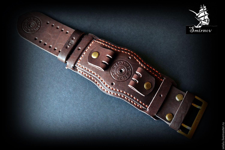 Кожаный браслет для часов своими руками 62