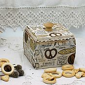 Для дома и интерьера handmade. Livemaster - original item Box bakery the array of Siberian pine decoupage. Handmade.