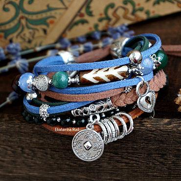 Decorations handmade. Livemaster - original item Women`s bracelet on the arm of BOHO with a coil