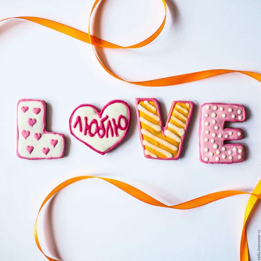 """Персональные подарки ручной работы. Ярмарка Мастеров - ручная работа. Купить Набор имбирных пряников """"LOVE"""". Handmade. Love"""