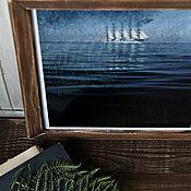 """Картины и панно ручной работы. Ярмарка Мастеров - ручная работа Фотокартина морская """"Парусник"""". Handmade."""